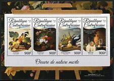 CENTRAL AFRICA  2017  STILL LIFE PAINTINGS  SHEET MINT NH