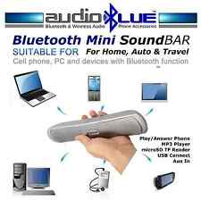 Bluetooth Mini Sound Bar Speaker MP3 player microSD USB Connect phone BT devices