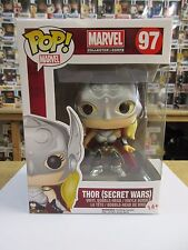 "MARVEL coleccionista Corps Thor (Secret Wars) 3.75"" POP VINILO FIGURA FUNKO 97"