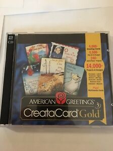 American Greetings Creatacard Gold Version 3 [CD-ROM] Windows 95/98 VINTAGE RARE