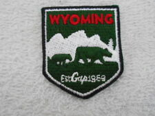 Wyoming State New Sew On Name Patch Tag