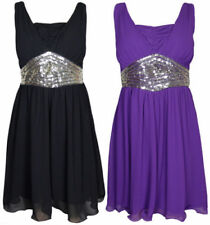 Polyester Sleeveless Dresses for Women with Sequins
