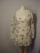 Sweaty Betty ivory floral print tunic top XS (8-10)