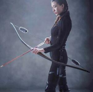Archery Laminated Wooden Longbow Traditional Recurve Bow Hunting Right Hand