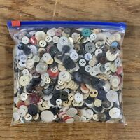 Vintage Button Collection 1 lbs 10.8 oz  Large Variety Mixed Lot Assorted
