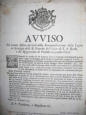 Q754-DUCATO DI PARMA-FILIPPO DI BORBONE-FORNITURA LEGNA AI MILITARI