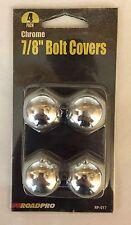 Roadpro RP-017 Chrome Plated Bolt Covers - 4 Packs  Fits 7/8 Lug