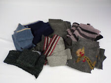 Felted Wool Pieces From Vintage Sweaters Large Lot Navy Blue,Grays Crafting Euc