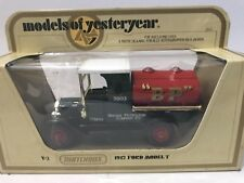 MATCHBOX YESTERYEAR Y-3 1912 FORD T TANKER B.P. BLACK EDGE LETTERS