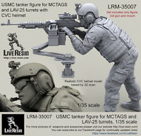 Live Resin 1/35 LRM-35007 USMC Tanker for MCTAGS & LAV-25 Turrets w/CVC Helmet