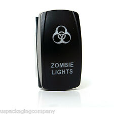Zombie On Off Blue LED Light Rocker Switch Toggle 12V 20A 5 PIN Tow Truck Jeep