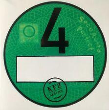 1. Haftfolie Nr.4 grün Umweltplakette / Feinstaubplakette / Spassplakette grüne