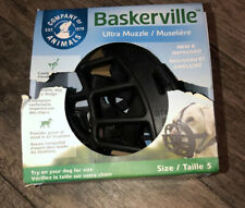 New Baskerville Ultra Muzzle Dogs Black Size 5 Large Dog Doberman Boxer 13.5""