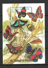 Papillons Saint Thomas et prince (39) bloc oblitéré