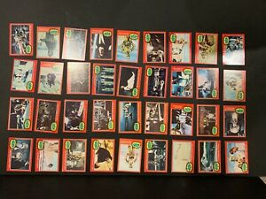 1977 Topps Star Wars 2nd Series Complete 66 Red Trading Card Set Fair Condition