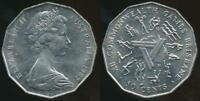Australia, 1982 Fifty Cents, 50c, Elizabeth II (Commonwealth Games)-Uncirculated