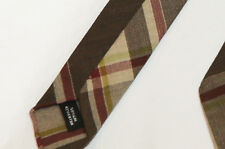 Hermes Cotton Linen Plaid Pattern Tie  / Necktie, NEW, Extremely Rare, Sold Out