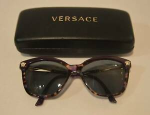Versace Sunglasses 4313 5179/68 Eggplant & Gold Made In Italy With Case