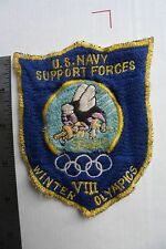 US NAVY SEABEES SQUAW VALLEY 1960 OLYMPICS PATCH