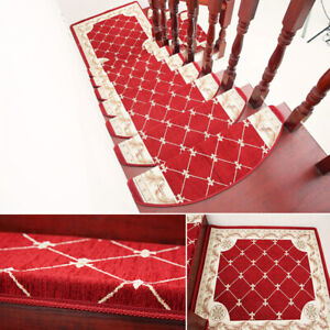 13pcs Adsorbable Stair Treads Mat Non-slip Rugs Skid Resistance Carpet Safety