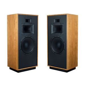 """KLIPSCH FORTE IV 15"""" LOUDSPEAKER PAIR Natural Cherry B-STOCK MADE IN THE USA!"""
