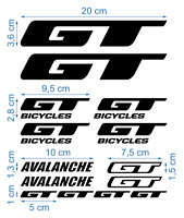 GT Die-Cut Decals Stickers Bicycle Graphics Autocollant Aufkleber Adesivi /624