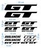 GT Die-Cut Decals Stickers Bicycle Graphics Autocollant Aufkleber Adesivi /624