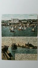 Postcards 1905 Sweeden Denmark Bergen Ships Queenstown HELSINGBORG  lot 2 Color
