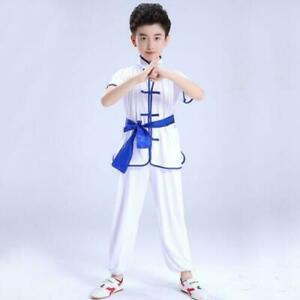 Kids Adults Boys Kung Fu Tai Chi Uniform Martial Arts Suit Wushu Training Outfit