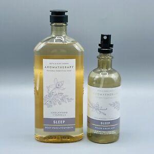 Bath & Body Works Aromatherapy SLEEP Cedarwood & Vanilla Body Wash & Room Spray