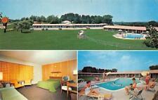 CONCORD, NH New Hampshire  BRICK TOWER MOTEL  Pool~Room/TV  Chrome Postcard