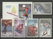 Olympiade 1992, Olympic Games - Laos - 1290-1294, Bl.141 ** MNH