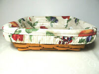 LONGABERGER 2000 Serving Solutions 8 x 8 Basket Combo w Liner and Protector EUC