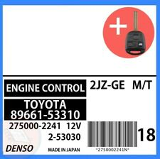 89661-53310 OEM ECU ECM W/ PROGRAMMED TRANSPONDER KEY 2002 2003 Lexus IS300 M/T