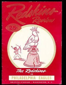 EX PLUS 10/17/1948 Redskins Vs Eagles NFL Program - Eagles are 1948 NFL Champs