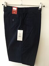 Mens Shorts (48) Navy RRP £24.99 golf tailored elastic classic smart walking