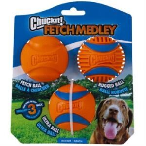 Chuckit Ultra Ball Fetch Medley 3 Pack Medium Dog Balls