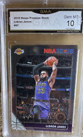 2019 Panini NBA Hoops Premium Stock LeBron James Lakers GEM MINT 10 Lakers