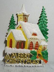 Antik Merry Christmas Fenster Deko Pappe Weihnachten Die Cuts  diecuts ~ 1950er