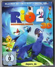 """""""RIO 2 - DSCHUNGELFIEBER"""" - 3D + 2D BLU RAY - 2-Disc-Set - im Pappschuber"""