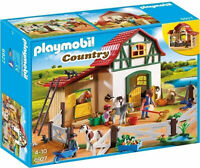 6927 Playmobil Pony Farm with 2 Pony Stalls and Storage Loft Country Suitable fo