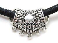 20pcs Antique Silver//Golden//Bronze Color Metal Heart Hollow Spacer Beads14mm HN