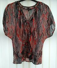 Ladies grey blouse top size 8 from Jasper conran sheer fabric