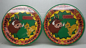 2-LION KING LARGE PAPER PLATES (8) ~ Birthday Party Supplies Simba Timon Pumbaa