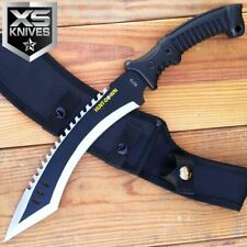 "16"" Tactical Fixed Blade Kukri Rambo Hunting Machete Survival Knife With Sheath"