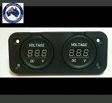 DUAL VOLTMETERS  FOR DUAL BATTERY SYSTEMS FLUSH MOUNT  BOAT MARINE  12V 4X4