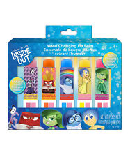Disney Pixar Inside Out Mood Changing Lip Balm 5 Piece New In Box