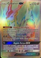POKEMON - Cobalion GX - Holo Full Art Secret Rainbow - Team Up - ITALIANO