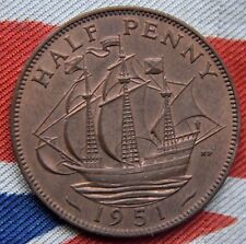1951-Rey Jorge VI-Uncirculated medio centavo-UNC