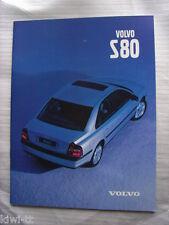Volvo S80 Prospekt / Brochure / Depliant, Französisch / Francais / French, 1999